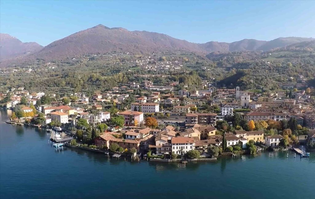 Lake iseo in Northern Italy